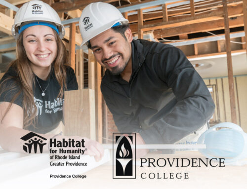 Habitat for Humanity of Rhode Island-Greater Providence signs partnership agreement with the Providence College Habitat Chapter